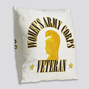 Women's Army Corp [WAC] Burlap Throw Pillow